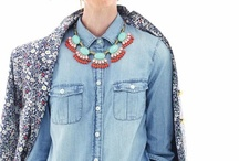 Perfect match: Denim shirt + statement necklace