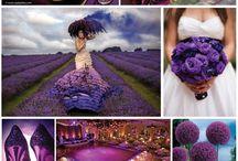 Lila esküvő insprációk