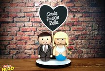Wedding Cake Toppers / Hollywood inspired Wedding Cake Toppers