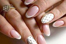 Френч с рисунком (french manicure)