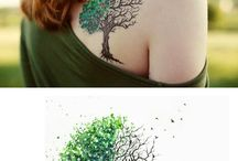 trees tattoo