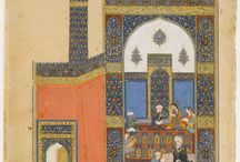 """Nizami's Khamseh / Persian Poet Nizami Ganjavi -  (1141-1209)  Welknown for his long epic poems. The main one is the Panj Ganj (Persian: five Jewels) or 'Khamseh' or  """"Quinary"""" - composed in masnavi-i  1. The treasury of mysteries (1163), 2. Khosrow and Shirin - (the famous Persian tragic romance) (1177-1180), 3. Layla and Majnun (1192), 4. Eskander Nameh (1194) and Haft Paykar  or The Seven Beauties also called Bahram Nama (1197)."""