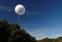 Ballon publicitaire hélium ou air
