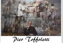 ⊱ Pier Toffoletti ⊰ /  ≻ Pier Toffoletti ~ Udine, Italy, 1957 ≺  Pier's passion for art was obvious from a very early age, and his family quickly realised he had inherited his grandfather's artistic talent. When he was 12, the gift from an aunt of two books on Michelangelo and Cézanne stimulated him to try and copy the illustrations. Painted figures, most of them female, become an integral part of the background with just a few strokes of the brush