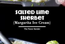 Ice cream, sorbets and Sherbets
