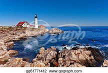 Maine Stock Photos