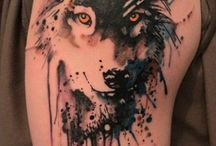 Wolf tattoos / #Wolf #Wolves #Tattoo #Tattoos #Tattooed #Skinart #Tat #Tattooart #Art #Design #Tattoodesign #Tatooisme #Tattooism #Ink #Inked