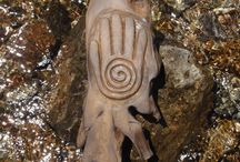 """The """"Healer's Hand"""" wood carving"""