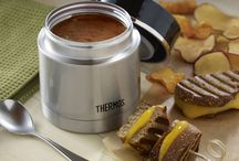 National Soup Month with Thermos Brand! / The weather is cold, but our favorite soups have never been hotter! Explore these delicious recipes for National Soup Month, and take your favorite stews along with you in a Thermos® food jar! / by Thermos
