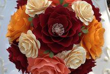 papírové květiny (paper flowers)