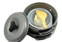 Camping Cookware / MREs (Meals Ready to Eat) and packaged snacks will only get you so far when camping. If you REALLY want to enjoy the outdoors, you need to be cooking and eating like royalty. This board features cookware for camping.