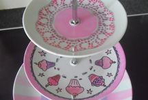 Hand painted porcelain cake-stands / all hand painted1