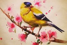 My Watercolor Works / My watercolor art. Мои акварельные работы.