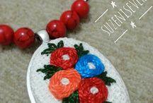 etamin kolyelerim embroidery / Embroidery necklace Etamin Kolyelerim