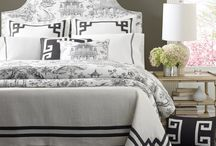 """Debra Ryan - Legacy Home / """"Fretwork"""" reflects Ryan's love of clean lines and color blocking to balance the more complex patterns in her bedding designs."""