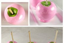 Äpfel bunt glasieren / Obst
