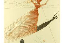 Alice in Wonderland by Salvador Dali / Dali