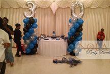 Balloon Columns by NOLA Party Boutique / Balloon Columns
