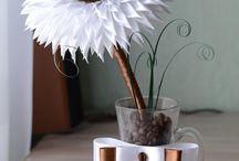 drzewko z kawy i wstążki