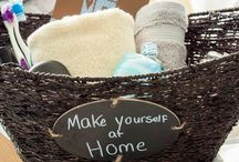 Home welcome baskets
