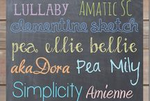 Fonts / Typefaces.