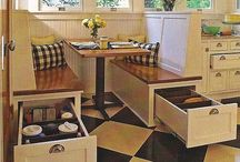 kitchen seating / by Kathryn Gorsha