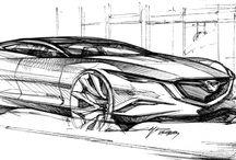 car sketches & renderings