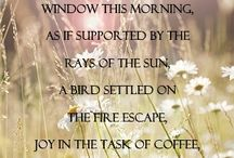 """Anais Nin / """"A leaf fluttered in through the window this morning, as if supported by the rays of the sun, a bird settled on the fire escape, joy in the task of coffee, joy accompanied me as I walked""""  -Anais Nin"""