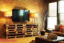 Móveis com Pallets / Todo o tipo de móveis com pallets Veja mais: http://maispaletes.com   / by MaisPaletes .com