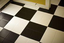 DIY checker floor