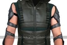Arrow S4 Oliver Queen Hooded Leather Vest / Get this Stephen Amell Green Arrow Costume Leather Vest at most low price from Sky-Seller and avail free Shipping.