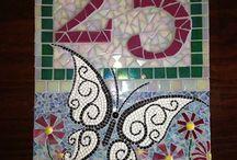 number & letter mosaics
