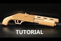 Пистолет с резиновой лентой