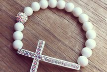 woman cross bracelet