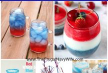 Patriotic Food and Drinks / I love, love, LOVE Red, White and Blue!!! The 3 colors are so beautiful together and make me happy! 4th of July is one of my favorite holidays. / by Kim Robertson