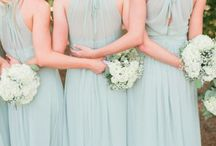 WEDDING | Bridesmaid Looks. / Natural, sage green, bridesmaid dresses
