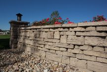 Walls / Retaining Walls created with R.I. Lampus products