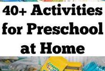 pre-school home activities