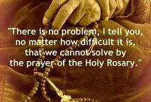 rosary, divine mercy etc