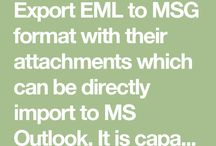 Simply Convert EML to MSG Files