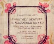 Imaginative invites, pretty program, marvellous menus etc. / Everything paper. / by Finola Gallagher-Taaffe