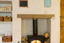 Fireplaces / Wood burner that you can keep your pot of tea warm on top appeals