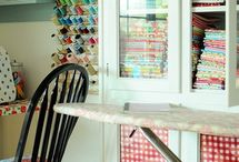 Sewing & Craft Storage Inspiration / A place to gather images about storing fabric, sewing rooms and craft storage for all the stuff that accumulates around creativity and fabric.