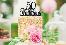Cake toppers for 40 th/50 th
