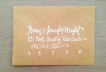 diy ||  calligraphy projects / by Catrina Ann