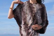 Fur Ponchos - Fancy Leopard - perfect color combination for any outfit