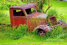 OLD RUST BUCKETS / OLD AGED ABANDONED TRUCKS & CARS