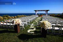 Susan & Brandon / White and Orange beach wedding