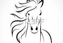 koně kresl.