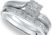 Silver Diamond Engagement Rings / by Amy Robertson